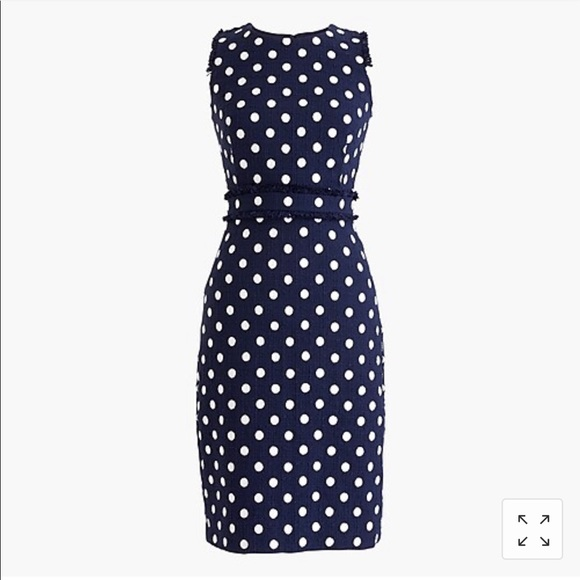J. Crew Dresses & Skirts - NWT J Crew Tweed Polka Dot Dress